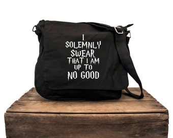LAST ONE - I Solemnly Swear That I'm Up To No Good Messenger Bag