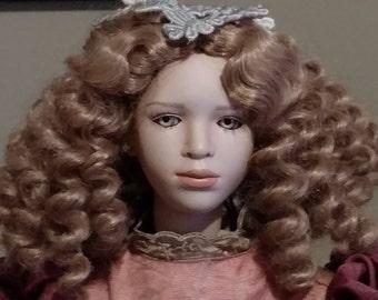 """Rare """"Cosimina"""" Elite 22"""" Fine Porcelain Doll by Artist Uta Brauser Ltd. 180/800"""