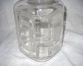 Hazel-Atlas,Art Deco, Mason Jar, 1 Quart Square, Clear Glass, Zinc Lid, Fruit Jar, Hazal-Atlas Glass Co.
