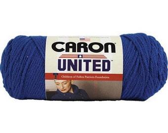 Acrylic Yarn Blue Camo Caron Simply Soft 11132 From