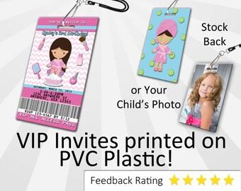 Spa Invitation PLASTIC Spa, Spa Invitation, Birthday Invitation, Birthday Invite, Spa Birthday Invitation