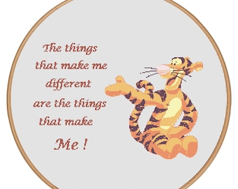 MORE for FREE - Tigger - Counted Cross stitch pattern PDF-Instant Download-Cross Stitch Pattern - Children - Kids - Needlepoint - #1608