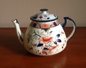 Rare and Exceptional 1930's Japonica Burleigh Teapot in excellent condition