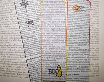 "Newspaper ""Halloween"" Bookmarks (set of 3)"