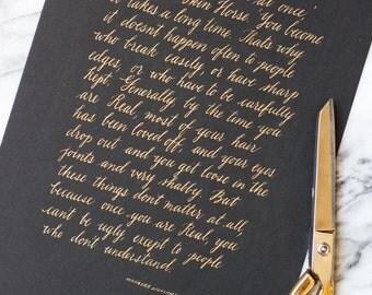 Custom Calligraphy Wedding Vows (8x10)