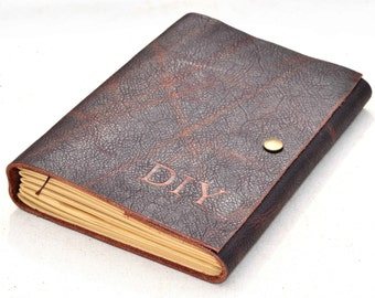 Personalized Unique Leather Journal gift for him for her(free Initials )