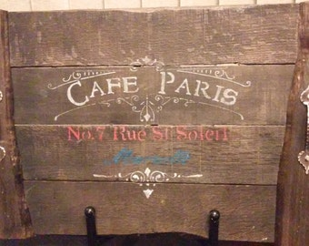Decorative Serving Tray with Cafe Paris