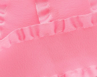 "7/8"" Satin Double Ruffle Ribbon - Pink 3yds"