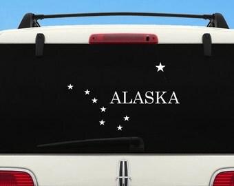 Alaska Flag Car Decal - Large State of Alaska Flag Sticker - Alaska car decal - Alaska SUV sticker