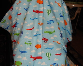 Car Seat Canopy - Planes