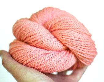 "Handspun Yarn - ""Peachy Keen"" - Merino Wool Yarn - Bulky Yarn - Felicity Yarn"