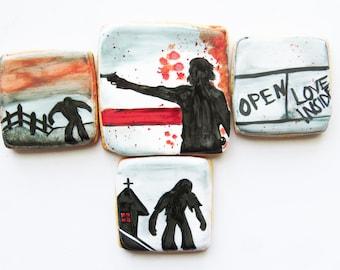 12 Walking Dead Cookies, TWD, Walking Dead, Rick Grimes, Daryl, Walking Dead Cookies, Zombie Cookies
