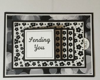 Get Well Waterfall Card-Black/White