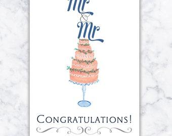 Gay Wedding Card - LGBT - Same Sex Marriage Card - Mr and Mr card