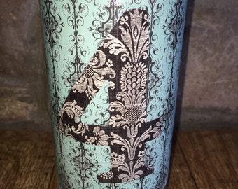 Wedding table nimber vase