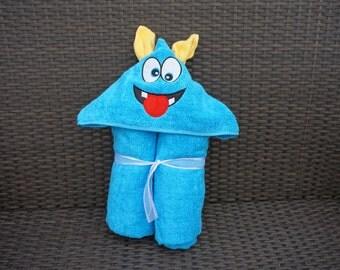 Monster Hooded Towel Etsy