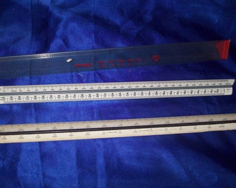 2 Vintage 3 sided Engineering/Architect Drafting Scales