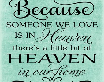 SVG, DXF & PNG - Because someone we love is in Heaven