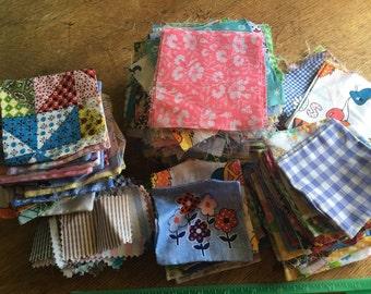 A bunch of scrap fabric