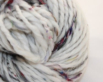 Handspun Yarn - Australian Merino Wool combined with Recycled Sari Silk