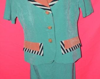 Vintage skirt suit/ 90s blazer/ vintage dress/ vintage blazer size 11