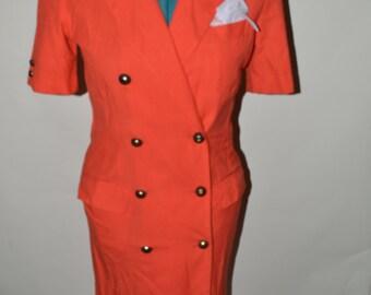 Vintage secretary dress/ vintage dresses/ vintage 90s dress/ Size 10