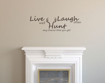 Hunting Wall Decals Etsy - Wall decals live laugh love