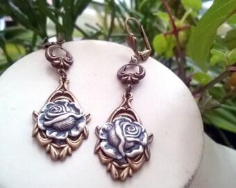 """Brass earrings """"Vincenta"""""""