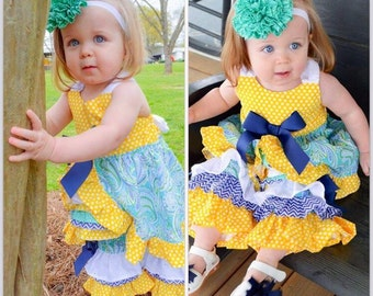 Ruffle dress / Ruffle girls top/ sundress/ Ruffle pants/ pagent wear/Pictures/ special outfit