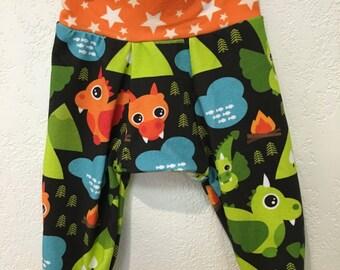 Baby, Toddler and Kid Dragon & Stars Big Butt Pants