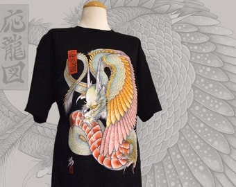 Japanese tattoo style T-shirt WING DRAGON