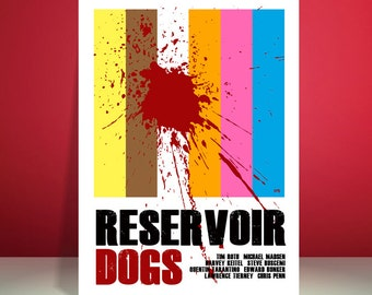 Reservoir Dogs // Quentin Tarantino // Movie Poster // Unique A4 / A3 Art Print