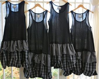 Apron Dress / Black 'Alice' Jumper sundress / By Breathe-Again Clothing