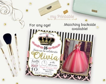 Little Princess Birthday Invitation / Printable