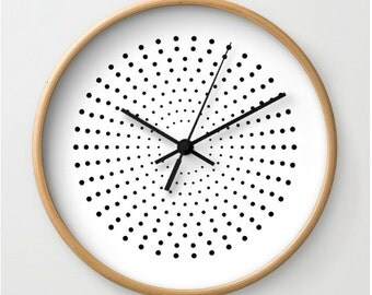 Minimalist Wall Clock Wood Clock Clock Black By