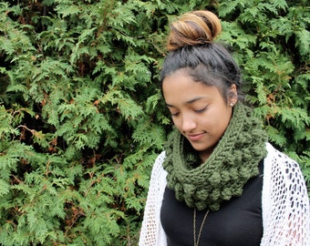 BUBBLE COWL | Forest Green