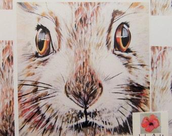 Mountain hare, hare, digital print, British wildlife, Wildlife art, art prints