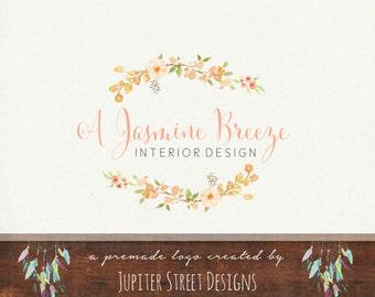 Logo Design-Flower Logo-Wreath Logo-Branding