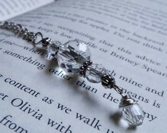 Antique Cut Crystal, Long Necklace.
