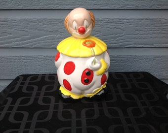 Vintage clown cookie jar