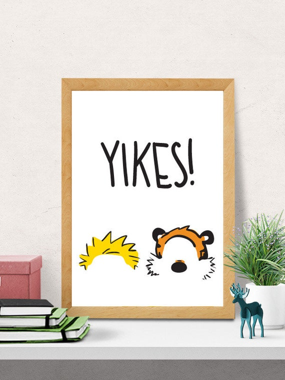 Nursery decor kids room decor nursery wall art calvin and for Calvin and hobbes nursery mural