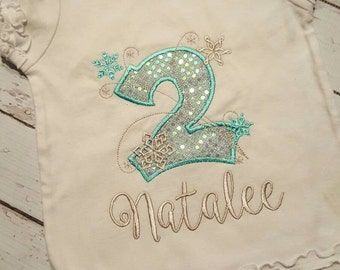 2nd birthday frozen inspired shirt