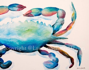 Colors of the Sea Crab Print