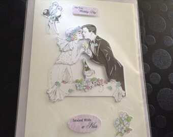 On your wedding day sealed with a kiss card