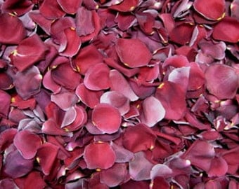 24 Cups Burgundy Freeze Dried Rose Petals for Weddings- Real Rose Petals