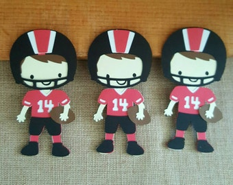Football Player Die Cut Set of 3