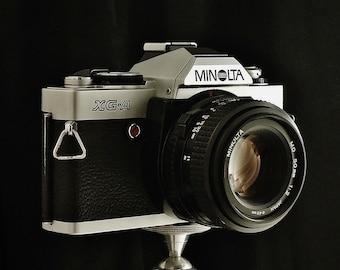 Vintage MINOLTA XG-A SLR Auto Exposure, 35mm Film Camera, Minolta 50mm f/2 Lens, New Light Seals, Circa: 1982, Beautiful Shape!