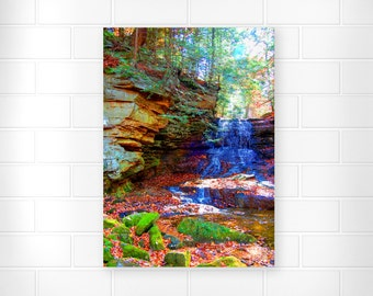 Waterfall Print - Scenic Photograph - Home Decor - Rustic Wall Art - Nature Art - Scenic Home Decor - Waterfall Artwork - Landscape Wall Art