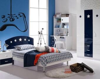 Wall Vinyl Sticker Decals Mural Room Design Pattern Art Bedroom Controller Video Games xbox Computer Fun bo2422