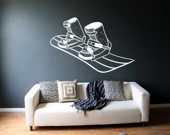 Snowboard wall decal etsy for Snowboard decor